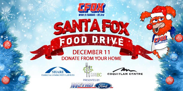 SANTA FOX Food Drive 2020!