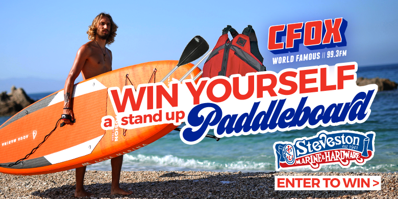 Win a stand up paddleboard thanks to Steveston Marine!