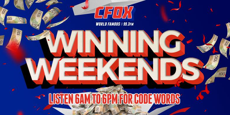 Win $500 with CFOX Winning Weekends